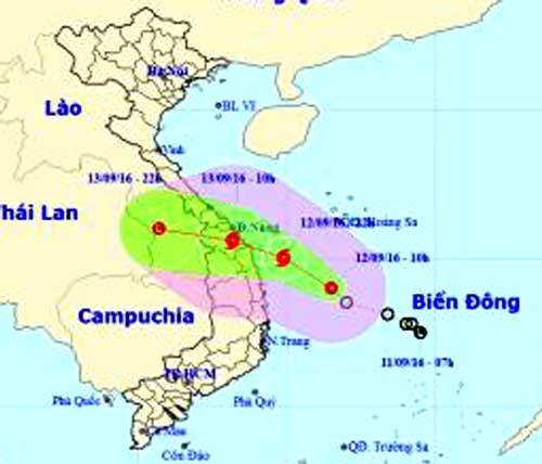 Bão vào vùng biển Quảng Nam-Bình Định ảnh 1