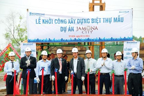 Sacomreal khởi công biệt thự mẫu Jamona City ảnh 1