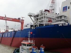 Hạ thủy tàu chở dầu lớn nhất do VN sản xuất ảnh 1