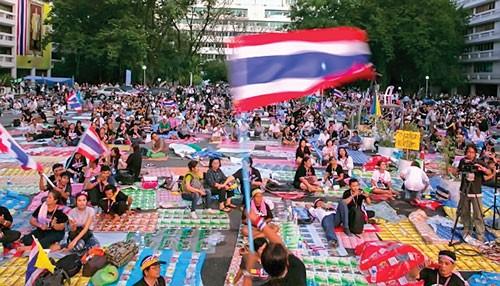 Biểu tình đe dọa kinh tế Thái Lan ảnh 1