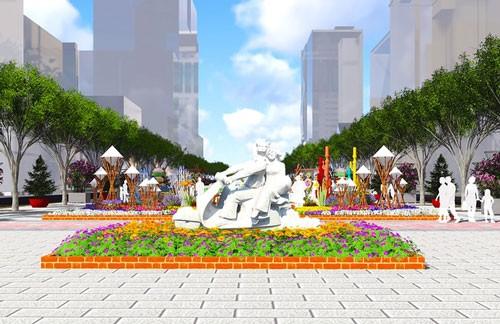 5 tác phẩm điêu khắc ở đường hoa Nguyễn Huệ ảnh 4