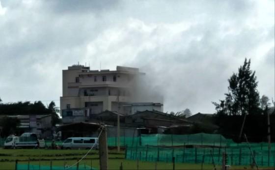 Cháy khách sạn ở Lý Sơn Ngonlua_oppg