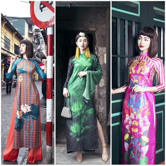 Ấn tượng với nghê Việt trên áo dài truyền thống ảnh 1