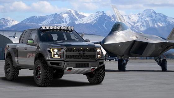 Ford F150 Raptor lay cam hung tu sieu may bay tang hinh F-22 hinh anh 2
