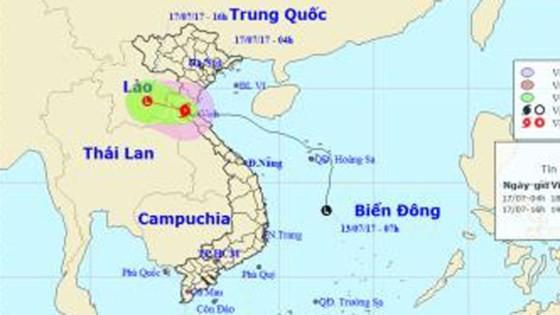 Bão số 2 đi sâu vào đất liền, suy yếu dần thành áp thấp nhiệt đới ở khu vực Trung- Lào ảnh 1