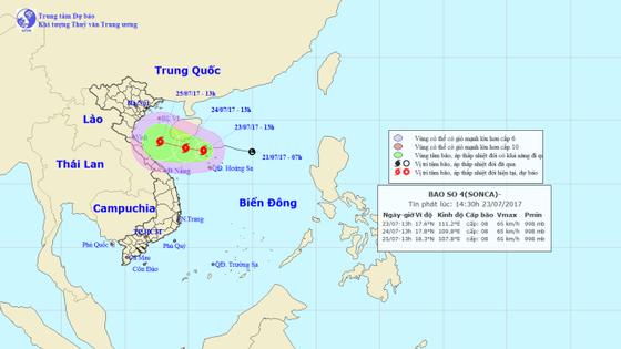 Xuất hiện bão số 4 trên biển, hướng về Thanh Hóa - Quảng Bình