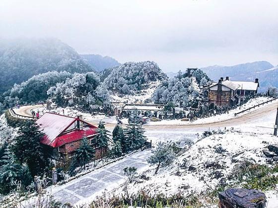 Đón tuyết rơi đỉnh Mẫu Sơn ảnh 1