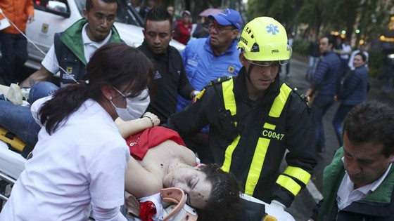 3 người chết trong vụ đánh bom trung tâm mua sắm ở thủ đô Colombia ảnh 1