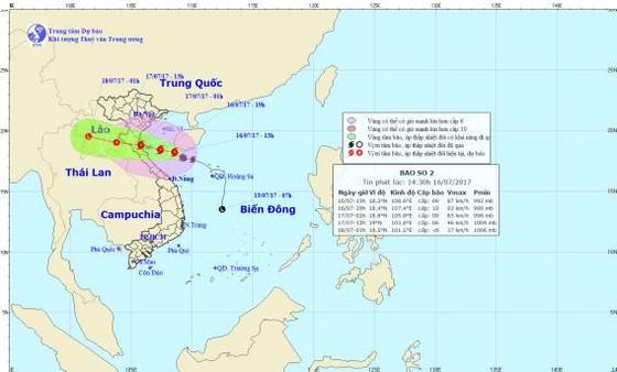 Đêm nay 16-7, vùng ven biển từ Thanh Hóa đến Hà Tĩnh có gió bão giật cấp 11  ảnh 2