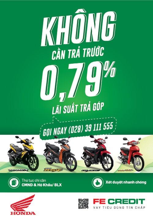 Mua xe máy Honda – chỉ 0,79% lãi suất ảnh 1