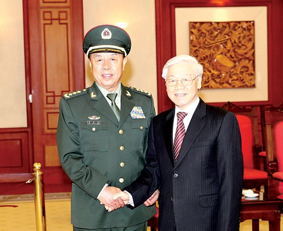 Tổng Bí thư Nguyễn Phú Trọng tiếp Phó Chủ tịch Quân ủy Trung ương Trung Quốc ảnh 1
