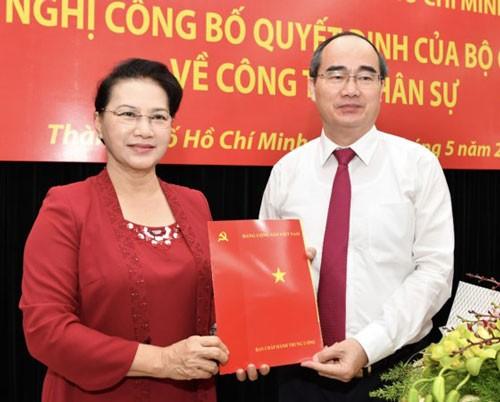 Ông Nguyễn Thiện Nhân nhận quyết định làm Bí thư Thành ủy TPHCM ảnh 1
