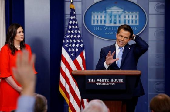 Giám đốc truyền thông Anthony Scaramucci mới nhận chức được 10 ngày. Nguồn: Reuters