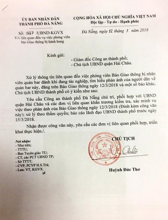 Chủ tịch UBND TP Đà Nẵng chỉ đạo điều tra, xử lý vụ PV Báo Giao thông bị hành hung ảnh 1