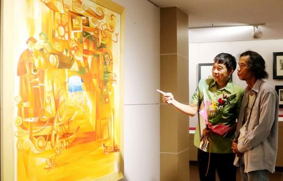 55 tác phẩm hội họa tham gia Triển lãm mỹ thuật Việt Nam - Lào - Campuchia ảnh 2