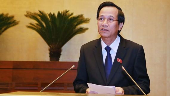Bộ trưởng Bộ LĐ-TB và XH Đào Ngọc Dung. Ảnh: VGP