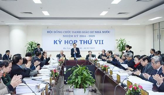 Một cuộc họp của Hội đồng Chức danh giáo sư nhà nước. Ảnh: HĐCDGSNN