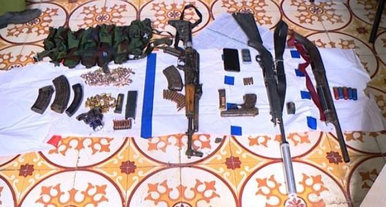 Số vũ khí của các đối tượng buôn bán ma túy ở Lóng Luông bị thu giữ