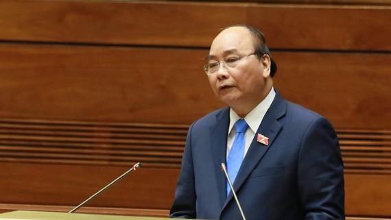 Thủ tướng Nguyễn Xuân Phúc phát biểu tại phiên chất vấn