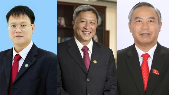 3 tân thứ trưởng: Lê Hải An, Nguyễn Trường Sơn, Phùng Đức Tiến (từ trái qua)