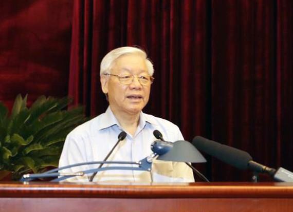 Tổng Bí thư Nguyễn Phú Trọng phát biểu tại Hội nghị toàn quốc về công tác phòng, chống tham nhũng