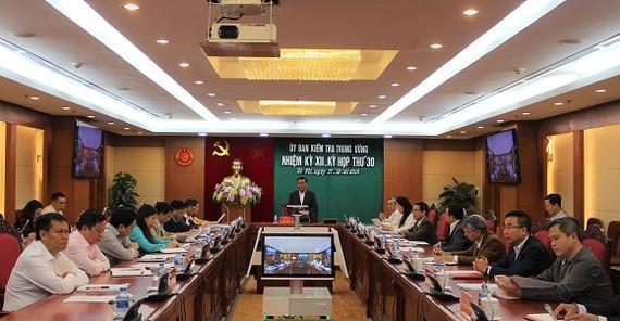 Kỳ họp thứ 30 của Ủy ban Kiểm tra Trung ương diễn ra từ ngày 16 đến 19-10