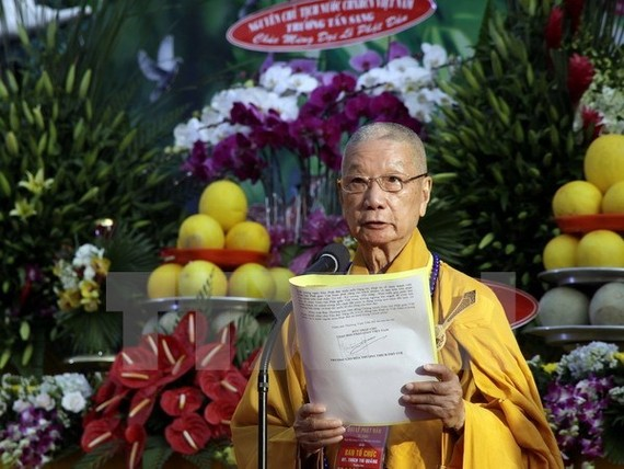 Most Venerable Thich Tri Quang at the event (Source: VNA)