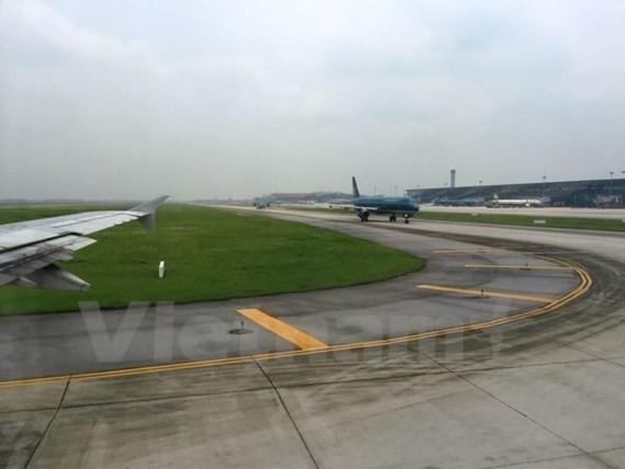 The Cat Bi Airport's taxiway N is in poor repair (Photo: VNA)