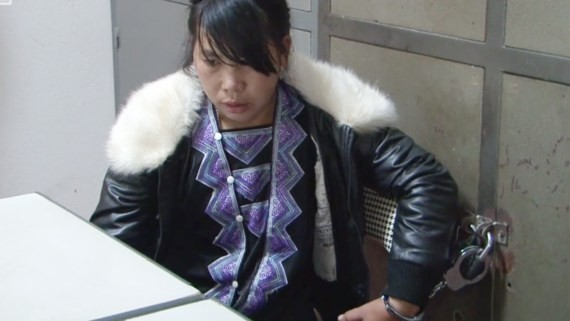 One of the female in the case at the local police station (Photo: SGGP)