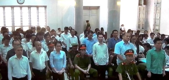 Defendants at the trial (Photo: SGGP)