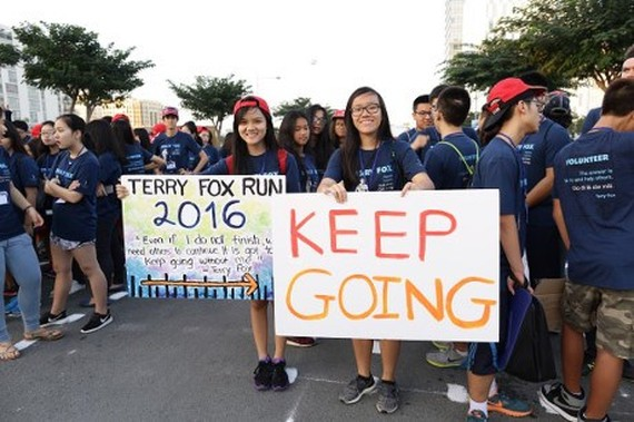 The 2016 Terry Fox Run drew crowds of participants (Source: courtesy of the orrganisation board)