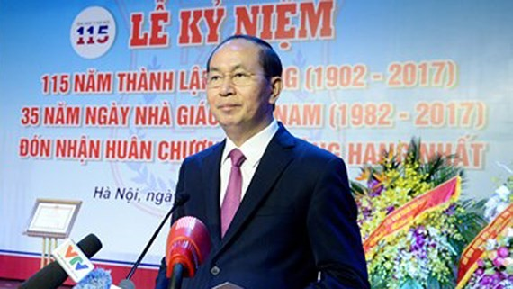 State President Quang attends Hanoi Medicine University's anniversary