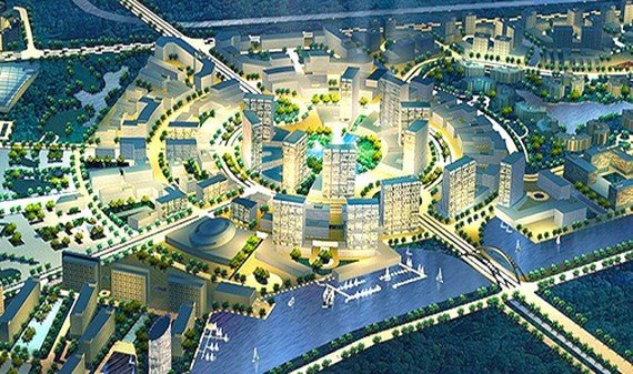 An artist impression of  the university village in Ho Chi Minh City's hoc Mon District (Photo: SGGP)