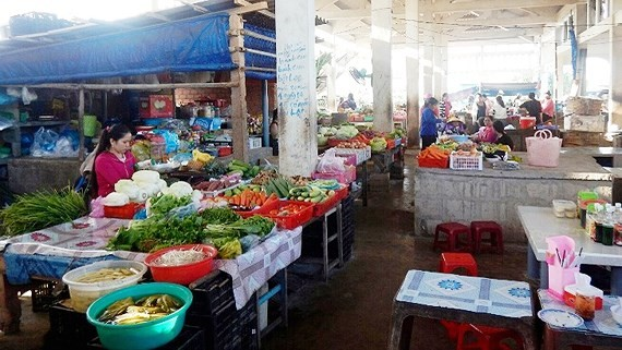 A market in Phu Quy Island (Photo: SGGP)