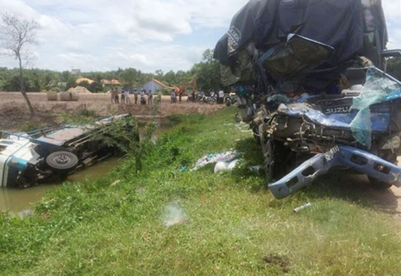 The scene of the traffic accident