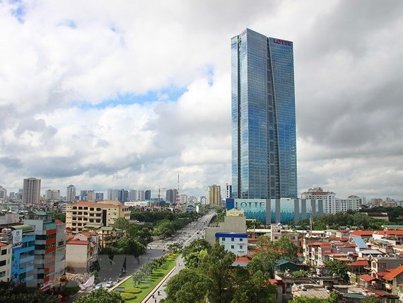 Lotte Center Hanoi is a complex of high-class apartment, Grade A office, 5-star hotel and modern shopping center. (Illustrative image. Photo: VNA)
