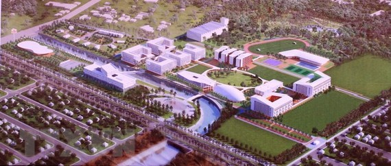 A graphic design of the new campus of the Vietnamese-German University in Binh Duong province (Photo: VNA)