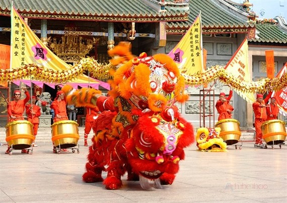 The International Kylin and Lion Dance competition will be held at Da Nang's Helio entertainment centre on September 14-16 (Photo: anhthethao.vn)