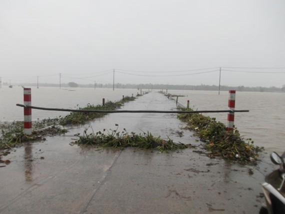 Downpours hit the northern provinces and Thanh Hoa. (Photo: SGGP)