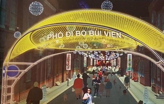 3D design of Bui Vien Walking Street (Source: VNA)