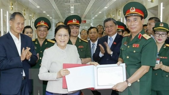 Laotian National Assembly Chairwoman Pany Yathotou will participate in activities marking the 55th anniversary of establishment of Vietnam- Lao diplomatic ties