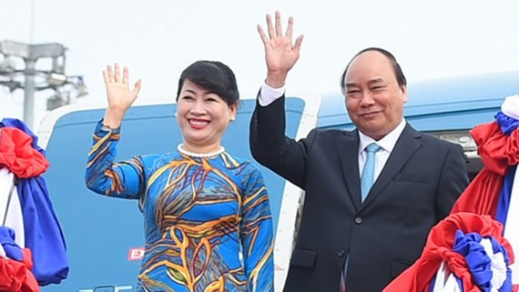 Vietnamese Prime Minister Nguyen Xuan Phuc and his wife visit Germany. (Photo:VNA)