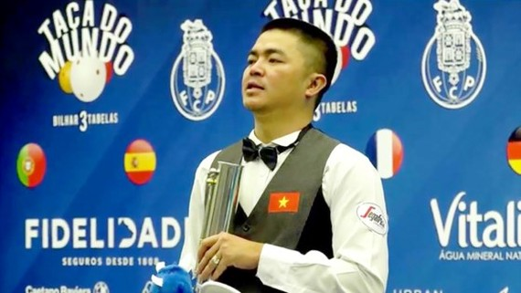 The second- best winner of Billiards World Cup Porto 2017 belongs to Quoc Nguyen.