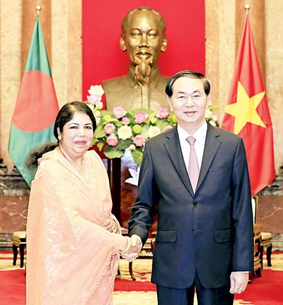 State President of Vietnam Tran Dai Quang and National Assembly Speaker of Bangladesh Shirin Ms. Sharmin Chaudhury