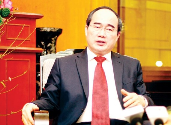 Politburo member and Secretary of the Ho Chi Minh City Party Committee Nguyen Thien Nhan (Photo:SGGP)