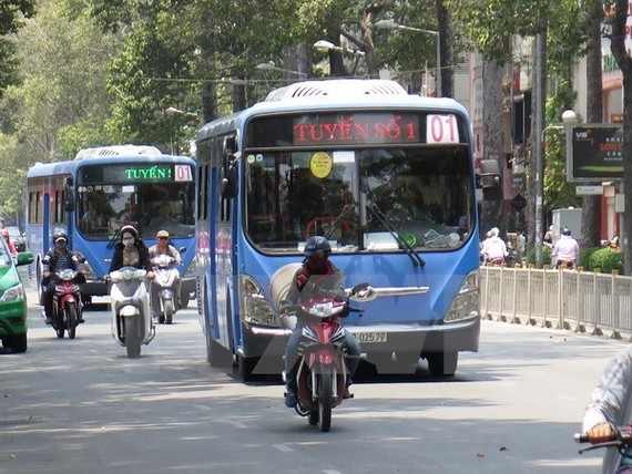 HCM City trials digital signboards at bus stops (Illustrative image. Source: VNA)