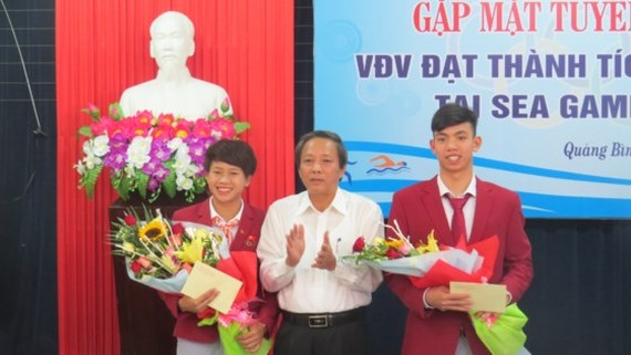 Two gold medalists of SEA Games 2017 are honored