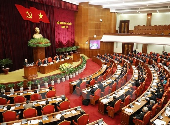 The 12th Party Central Committee opened its sixth session in Hanoi on October 4 (Photo: VNA)