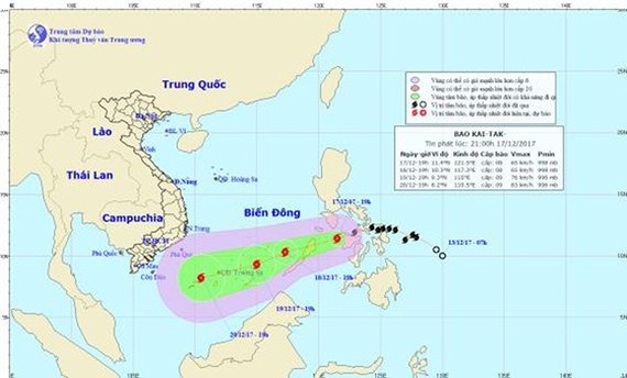 Position of typhoon Kai-tak (Photo:NHMFC)