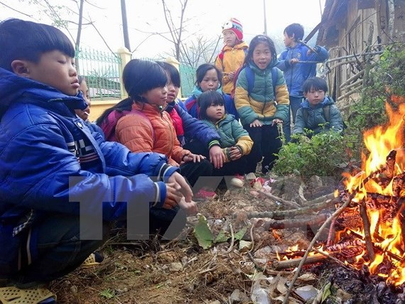 Cold air covers the northern and central region of Vietnam (Photo:VNA)